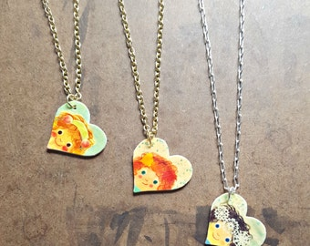 Sister Necklaces | 3 Best Friends Necklaces | Friendship Jewelry | Heart Pendants | Tiny Illustration | Cute Watercolor | Hand Drawn