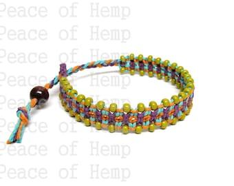 SALE Colorful Adjustable Hemp Bracelet