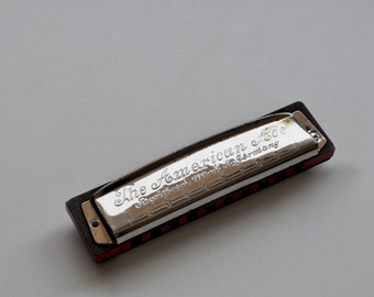 Vintage American Ace Harmonica FR. HOTZ Made in Germany