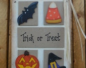 Halloween wall hanging/door hanger, FFFOFG, FREE SHIPPING, prim, folk art, fall, Thanksgiving