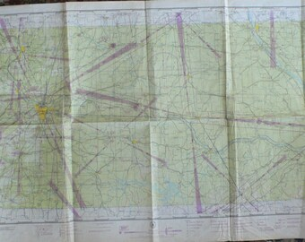 vintage Aeronautical Charts, maps, 1940's, group of 20, from Diz Has Neat Stuff