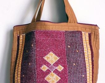 Small Tote Bag, Embroidery bag, Fabric Tote Bag