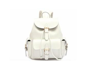 White backpack | Etsy