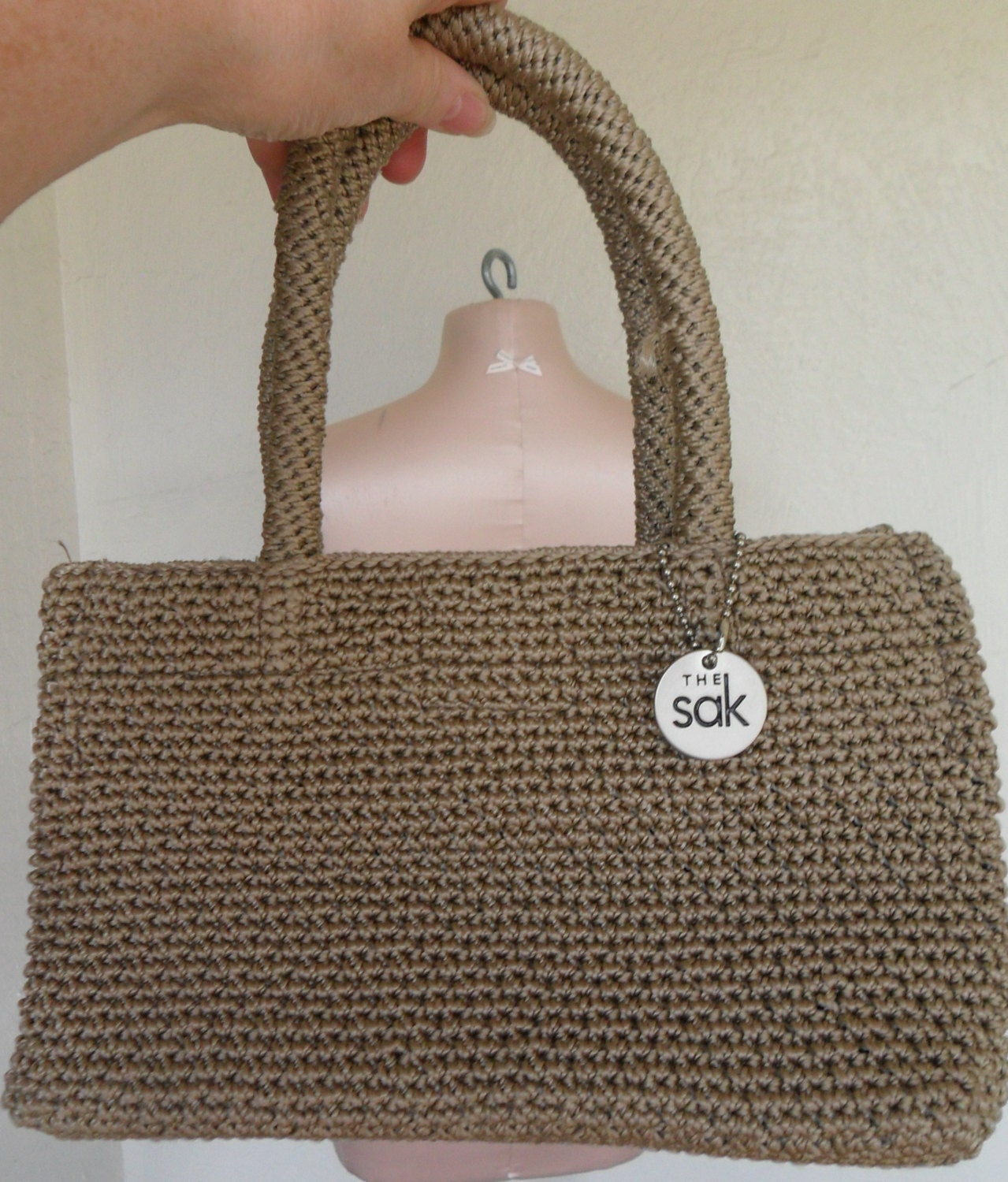 The Sak Bags Crochet : Vintage The Sak Crochet Purse Elliott Lucca by desertgraceboutique