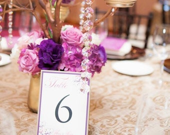 Table Numbers for weddings - Wedding Table Numbers - Personalized Wedding Table Numbers