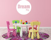 Dream Big Vinyl Decal - Kids Room Wall Decal - Many Color Choices
