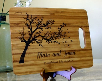 Personalized Cutting Board , Customized Wedding Gift, Engraved Cutting Board, Anniversary Gift