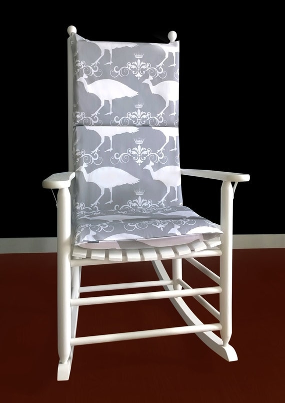 on sale rocking chair cushion cover peacock by rockincushions. Black Bedroom Furniture Sets. Home Design Ideas