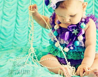 Little Mermaid Bubblegum Necklace - Under The Sea Necklace - Little Mermaid Necklace -