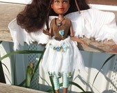 33% OFF SALE Pendragon Doll #69 - Posey the Fairy - Repainted rescued O.O.A.K. BJD collector art doll handmade clothes, wings and shoes