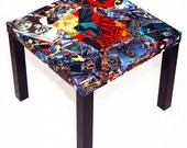 Batman Comic Collage Table