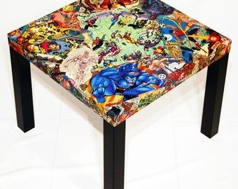 X-Men Comic Collage Table