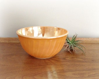 Mixing Bowl Fire King Peach Lusterware Bowl