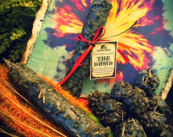 THE BOMB CANDLE, Triple Loaded Herbal Alchemy Candle - Herbal Alchemy Candle - Ritual, Meditation