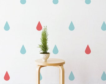 Pastel Raindrops Set Wall Patterns | Removable Wall Decal & Sticker for Home, Office, Nursery