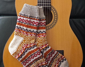"Adult socks (""Balthazar's Jumper Socks"") knitting pattern (PDF)"