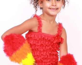READY TO SHIP: Fiery Phoenix Feather Arm Bird Wings - Fire Bird Costume Accessory - Toddler - Child Size