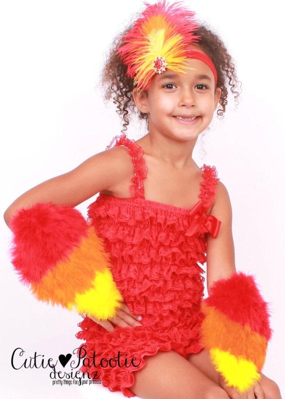 Il_570xn  sc 1 st  Catch My Party & READY TO SHIP: Fiery Phoenix Feather Arm Bird Wings - Red Orange ...