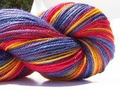 Hand Painted Corriedale, Nylon Sock yarn, 434 yards, 3ply, fingering weight, SuperWash