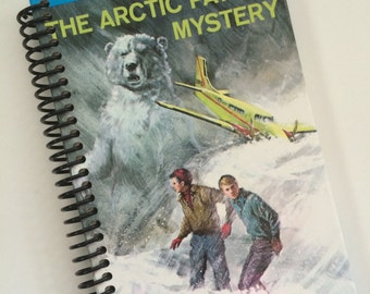 HARDY BOYS MYSTERIES Upcycled Notebook Journal Spiral Recycled The Arctic Patrol Mystery