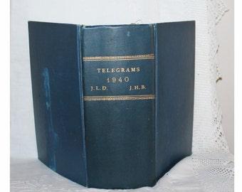 Western Union book of telegrams. Wedding 1940, New York
