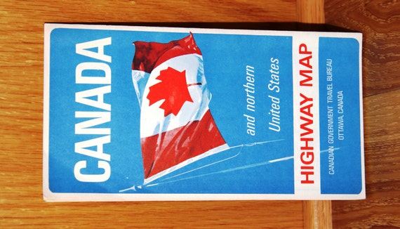 Vintage Canada Highway Map Foldout Map Expo - 1967 interstate highway map us