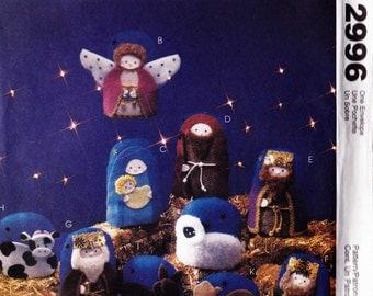 PATTERN McCalls 3279 Christmas Nativity ornaments wall hanging animals wise men Uncut
