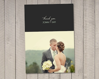 Modern Wedding Thank You Card (Printable) by Vintage Sweet