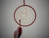 7 inch Handcrafted Red Dreamcatcher