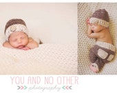 crochet baby boy hat and pants set   FREE domestic shiipping
