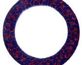Steering Wheel Cover Red Scroll-Girly Car Decor-Cute Auto Accessory-Car Steer Wheel Cover for Women-Car Accessory