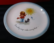 Vintage 1972 American Greetings Gigi Collector's Edition Plate ~ Friendly ways make sunny days