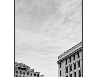 Off Bay Street: black and white photography architecture, digital black and white photography, black and white fine art photography