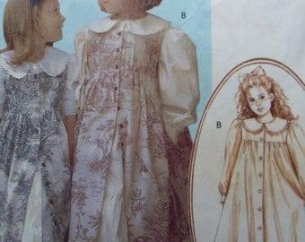 Pretty pretty pinafore Girls Dress and pinafore pattern McCall's M4648 Size 2-3-4-5