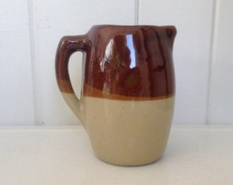 Brown and Beige Vintage Pitcher