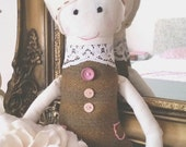 Suzie the Sweet Rag Doll Ragdoll Soft Toy Fabric Doll Dolls for Girls