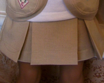 18 Inch Doll Clothes - Khaki Skirt