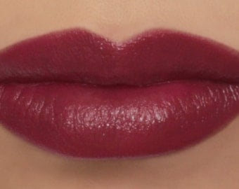 "25% OFF - Vegan Lipstick - ""Magnolia"" (dark raspberry pink color) natural lip tint, balm, lip colour mineral lipstick"