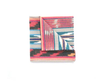 Navaho Colorful Ikat Woven Pocket square
