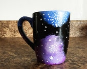 Hand Painted - Galaxy Mug - Gift Idea