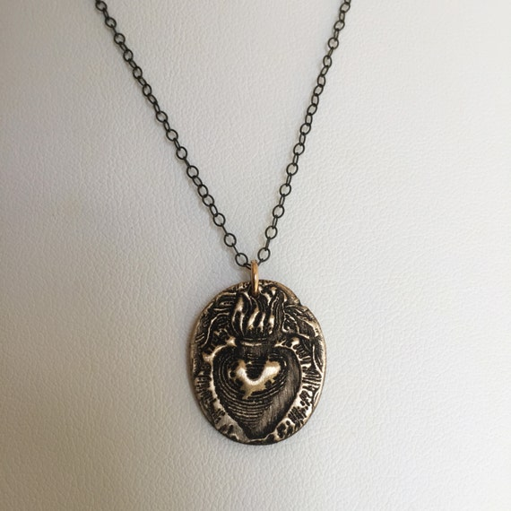 Sacred Heart Medallion Necklace