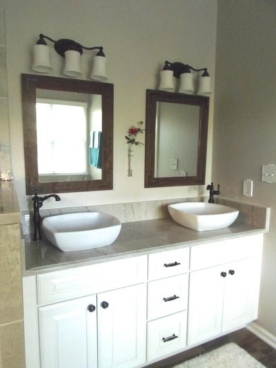 Excellent Bathroom Mirror  Modern Home Decor  Framed Mirror  Wood Mirror