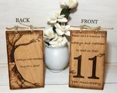 Wedding Table Numbers,Table Numbers,Wedding Signs,Wedding Decor,Wedding CenterPiece,Rustic Wedding,Wedding Table Decor,Numbers