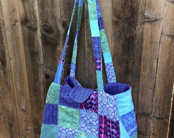 Large Quilted Diaper Bag or Tote Bag or Overnight Bag or Project Bag - Made to Order