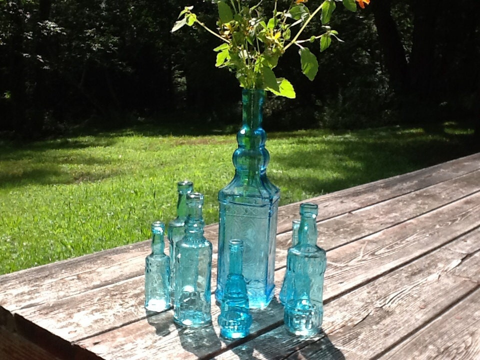 vintage vase vases collection item bluenique pages bowls htm candle art glass blue viking aqua holders