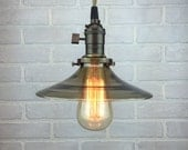 Industrial Pendant Lamp - Smoked Glass Shade - Hanging Pendant Light - Industrial Lighting - Modern Edison Lamp