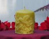Beeswax Hummingbird Pillar Candle