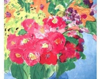 Walasse Ting - Flowers (sm) (1990) Offset Lithograph sku WT82