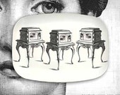 3 chests Cavalieri melamine platter