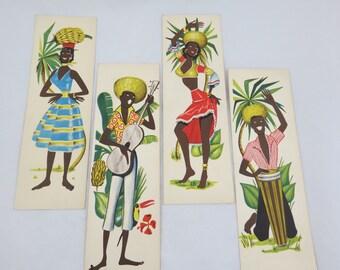 Vintage Jamaican Postcards - Caribbean Postcards - Calypso Art - Mid Century Jamaica - Mid Century Caribbean - Free Shipping - 8ITT15